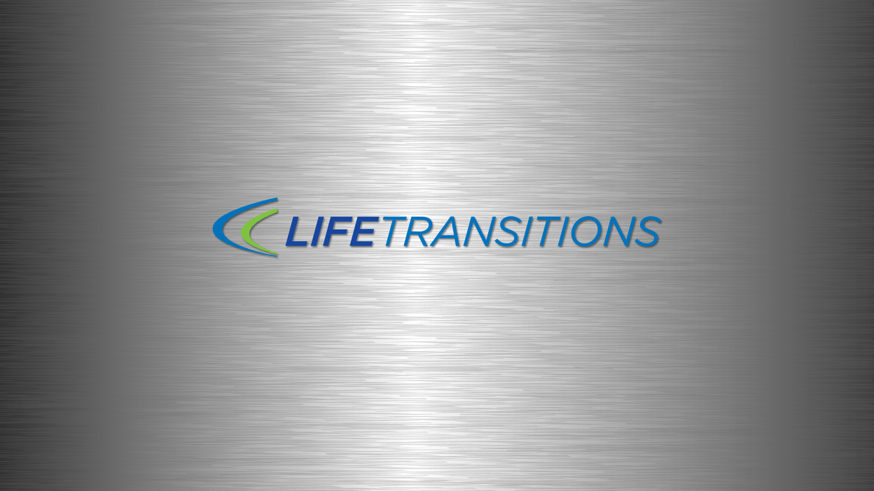 Life Transitions logo and brochure