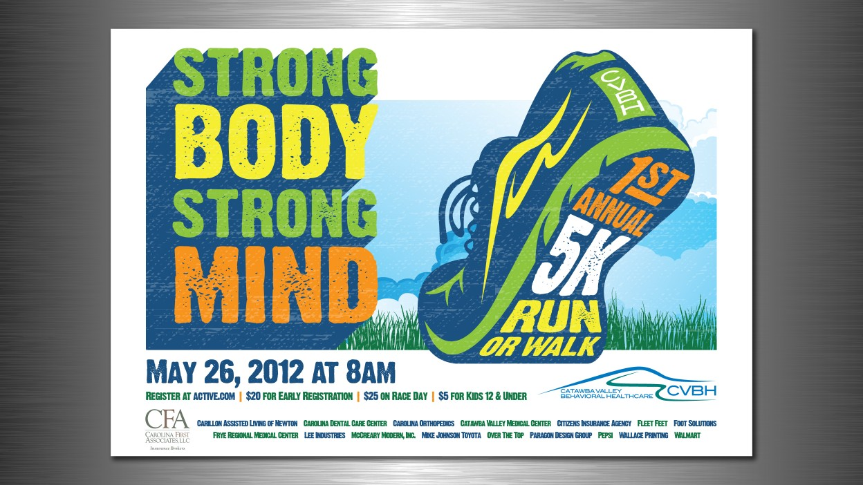 Catawba Valley Behavioral Healthcare Postert Shirt For 5k Run Or